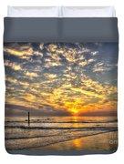Calm Seas And A Tybee Island Sunrise Duvet Cover