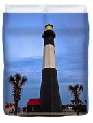 Tybee Light And Palms Duvet Cover