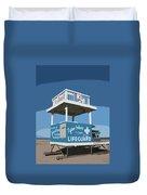 Tybee Third Street Lifeguard Stand Duvet Cover