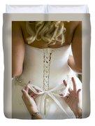 Tying The Wedding Dress Duvet Cover