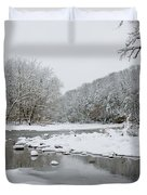 Tyler Park In Winter Duvet Cover