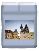 Tyn Church In Prague Duvet Cover