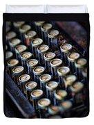 Typewriter Keys Duvet Cover