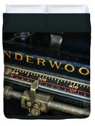 Typewriter Paper Guide Duvet Cover