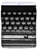 Typewriter Triptych Part 2 Duvet Cover