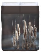 Typha Cattail Spikes Seeds Duvet Cover