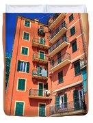 Typical Ligurian Homes Duvet Cover