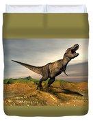 Tyrannosaurus Rex Dinosaur Walking Duvet Cover