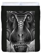 Tyrannosaurus Rex In Black And White Duvet Cover