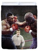 Tyson/holyfield Duvet Cover
