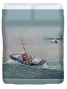 U. S. Coast Guard 44ft Motor Lifeboat And Tilt-motor Aircraft  Duvet Cover