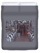 U S S Bowfin Submarine Engine Room Duvet Cover