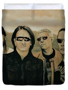 U2 Silver And Gold Duvet Cover