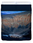 Ubehebe Crater Twilight Death Valley National Park Duvet Cover