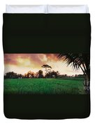 Ubud Rice Fields Duvet Cover