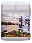 Ucluelet In December Duvet Cover
