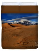 Ufos Over Sand Dunes Duvet Cover