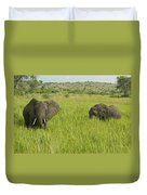 Ugandan Elephants Duvet Cover