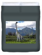 Ultrasaurus In Meadow Duvet Cover