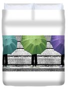 Umbrella Trio Duvet Cover