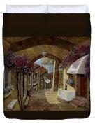 Un Bicchiere Sotto Il Lampione Duvet Cover by Guido Borelli