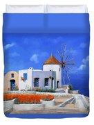 un mulino in Grecia Duvet Cover
