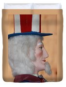 Uncle Sam Closeup Red White And Blue Duvet Cover