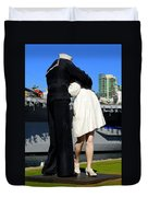 Unconditional Surrender Kiss Duvet Cover