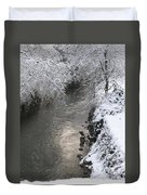 Under A Blanket Of Snow Duvet Cover