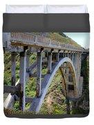 Under Bixby Bridge By Diana Sainz Duvet Cover