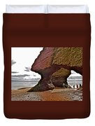 Under Fundy Feet In Big Cove At Hopewell Rocks-new Brunswick Duvet Cover