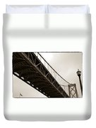 Under The Bay Bridge Duvet Cover