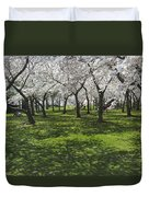 Under The Cherry Blossoms - Washington Dc. Duvet Cover by Mike McGlothlen
