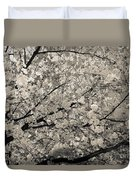 Under The Cherry Tree - Bw Duvet Cover by Hannes Cmarits