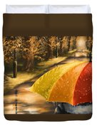 Under The Rain Duvet Cover