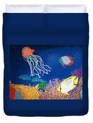 Under The Sea Mural 1 Duvet Cover