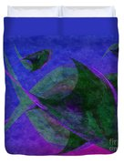 Under The Sea Painterly Duvet Cover