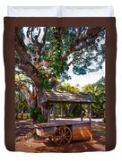 Under The Shadow Of The Tree. Eureka. Mauritius Duvet Cover