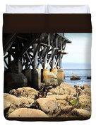 Under The Steinbeck Plaza Overlooking Monterey Bay On Monterey Cannery Row California 5d25050 Duvet Cover