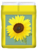Under The Sunflower's Spell Duvet Cover