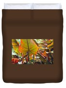 Under The Tropical Leaves Duvet Cover