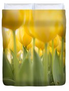 Under Yellow Tulips - 8x10 Format Duvet Cover