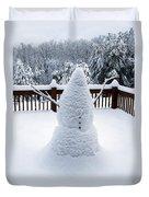 Undercover Snowman Duvet Cover