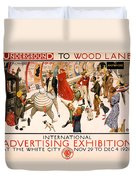 Underground To Wood Lane To Anywhere Duvet Cover by Georgia Fowler