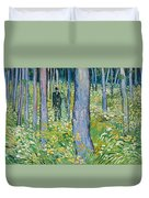 Undergrowth With Two Figures Duvet Cover