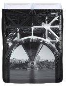 Underneath The George Washington Bridge Iv Duvet Cover