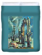 Underwater Cathedral By Chris Duvet Cover