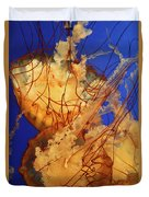 Underwater Friends - Jelly Fish By Diana Sainz Duvet Cover