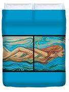 Underwater Swimmer Duvet Cover