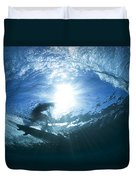 Surfing Into The Eye Duvet Cover